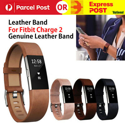AU11.85 • Buy Wrist Band Leather Strap Wristband Replacement For Fitbit Charge 2 Watch