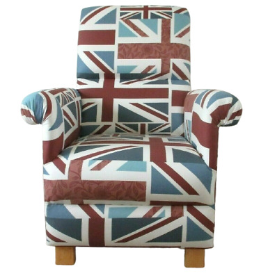 £159.99 • Buy Fryetts Union Jack Fabric Adult Chair British Flag Armchair Red White Blue Study
