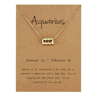 Zodiac Star Sign Necklace Pendant Jewellery With Gift Card Constellation Chain • 4.99£