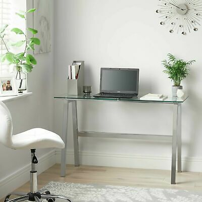 £99.99 • Buy Home Mirano Office Desk - Clear Glass
