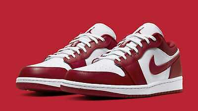 $135.99 • Buy Nike Air Jordan 1 Low Shoes Gym Red White 553558-611 Men's NEW