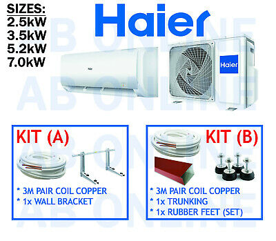 AU658 • Buy Haier Split System Inverter Reverse Cycle Air Conditioning Copper Bracket Aircon