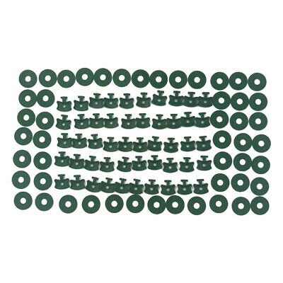 100x Twist Clips Washers For Greenhouse Insulation Netting Shading Glazing Bars • 4.99£