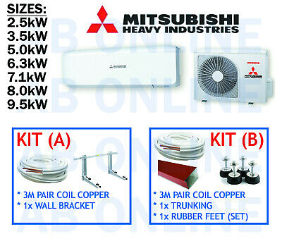 AU857 • Buy Mitsubishi Heavy Industries Mhi Split System Reverse Cycle Air Con Copper Aircon