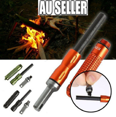 AU6.99 • Buy Outdoor Survival Magnesium Flint And Steel Striker Fire Starter Lighter Stick