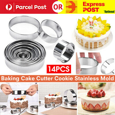 AU16.95 • Buy 14x Baking Cake Cutter Cookie Stainless Steel Round Fondant Biscuit Mold Pastry