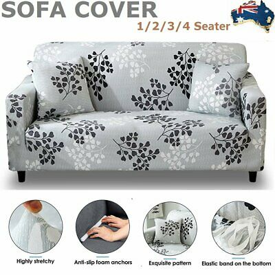 AU24.69 • Buy Stretch Fit Sofa Cover Lounge Couch Removable Slipcover Washable 1 2 3 4 Seater