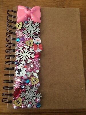 Decoden Hand Made A5 Note Book Gift Pink Xmas Cute Kawkii Stationery Present  • 7£