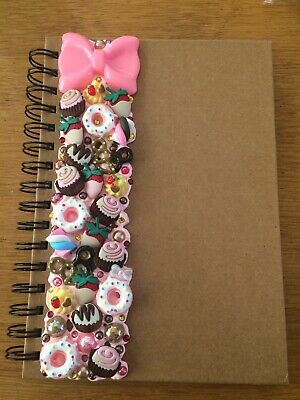Decoden Hand Made A5 Note Book Gift Pink Sweets Cute Kawkii Stationery Present • 7£