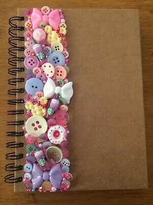 Decoden Hand Made Note Book Gift Pink Cute Kawkii Stationery Christmas Present  • 7£