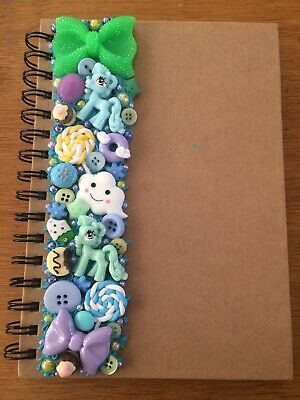 Decoden Hand Made A5 Note Book Gift Blue Pony Cute Kawkii Stationery Christmas • 7£