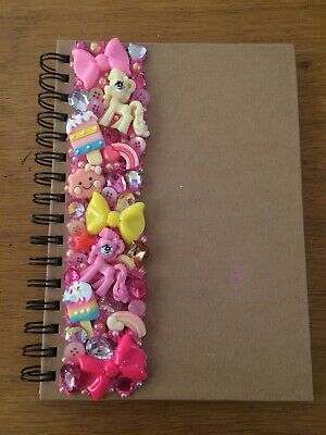 Decoden Hand Made Note Book Gift Pink Yellow Cute Kawkii Stationery Office Pony • 7£