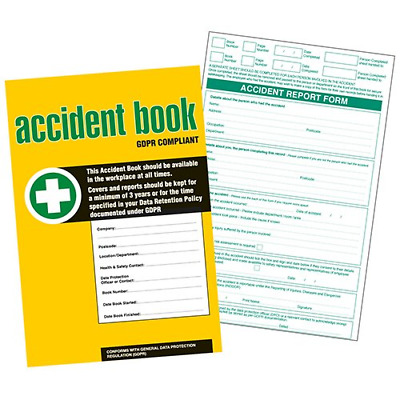 £5.99 • Buy GDPR Compliant Business/Workplace Accident Report Book - A4