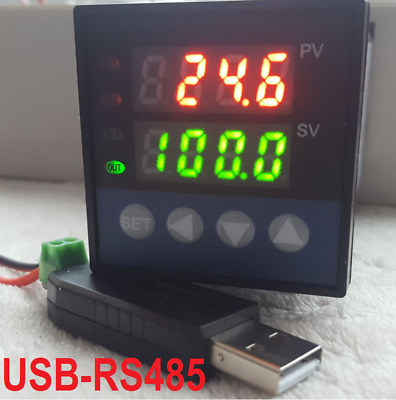 £49.25 • Buy PID Temperature Controller Recorder Data Logger SSR Output °C °F + USB RS485 PC