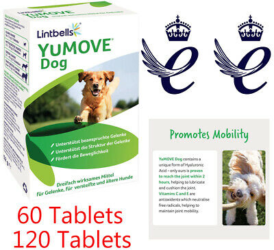 Lintbells YuMOVE Dog Joint Supplement For Stiff And Older Dogs 60/120 Tabs New • 19.99£