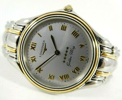 $ CDN370 • Buy LONGINES GOLDEN WING Silver Dial Ref. L3.605.5 Cal. L.124.1 Swiss Vintage Watch