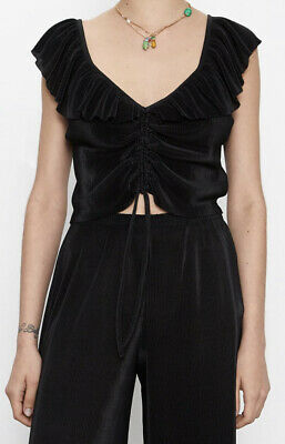 $26.80 • Buy Zara Cropped Black Top New With Tags Size S