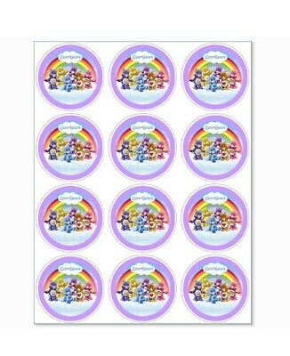 12 Care Bears Party Stickers • 1.50£