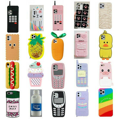 AU6.99 • Buy Cute 3D Cartoon Silicone Kid's Case Cover For IPhone 11 Pro Max 11 8 7 6S Plus 5