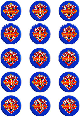 Dr Who Themed ; Cupcake Topper;15 X 2  (50mm) Circles. • 2.40£