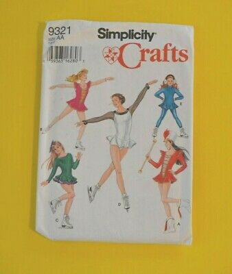 £6.37 • Buy Simplicity 9321 Sewing Pattern, Child Girls Skating Majorette Costume Size 7-10