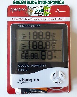 NEW Bang On Digital Temperature And Humidity Meter LCD Hydroponics Grow Room  • 12.99£