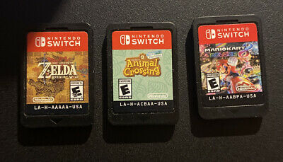 $159.99 • Buy Nintendo Switch Game Lot Of 3 Games Mario Kart Zelda BotW Animal Crossing