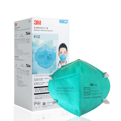 AU189.99 • Buy 30pcs 3M 9132 P2 N95 Healthcare Particulate Respirator Surgical Mask Anti-Fluid