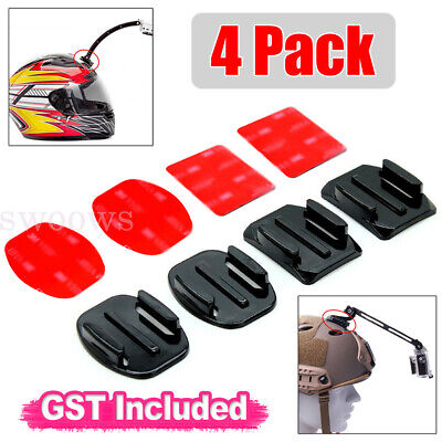 AU6.99 • Buy 4 Pack Curved & Flat Adhesive Mounts For GoPro Hero 8/7/6/5/4/3 For DJI Camera