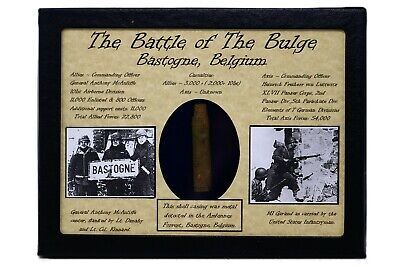 £27.77 • Buy WW2 Dug American Shot Bullet Casing .30  From The Battle Of The Bulge With COA