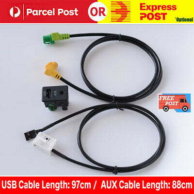 AU23.99 • Buy USB+AUX Switch Cable RCD510 310 300 RNS315 Fit VW MK6 GOLF JETTA CC PASSAT B6 B7
