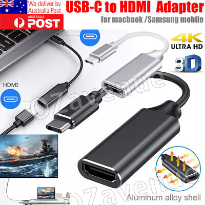 AU13.89 • Buy 4K USB-C Type C To HDMI Cable Adapter For Thunderbolt 3 Samsung S20 S10 S9 Plus