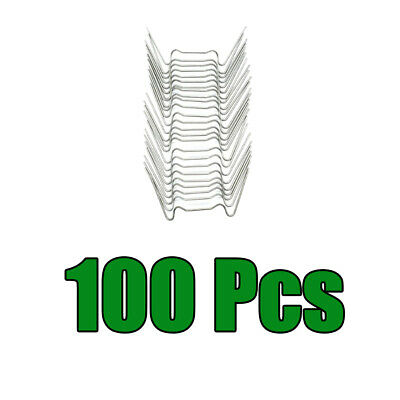 100-Piece W Wire Glazing Clips Stainless Steel Accessories For Greenhouse • 6.56£
