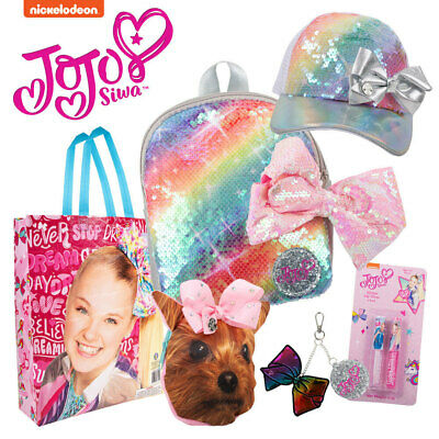 AU35 • Buy Nickelodeon JoJo Siwa Showbag W/ Purse/Backpack/Keychain/Lip Gloss/Sequin Cap