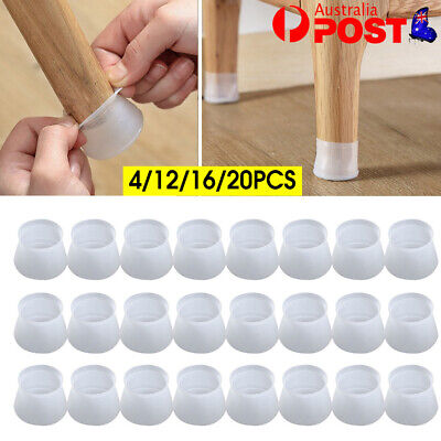 AU7.95 • Buy Chair Leg Silicone Caps Pad Furniture Table Feet Cover Wood Floor Protector AU