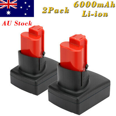 AU64.90 • Buy 2x 6000mAh 12V Battery For Milwaukee 48-11-2401 48-11-2460 48-11-0141 M12 C12B