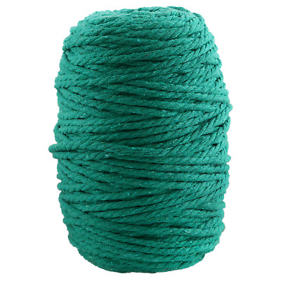 AU45 • Buy 5mm Sea Green Macrame Rope 3 Ply Coloured Cotton Cord String Twisted Australia