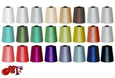 5000 YARDS X 4 CONES SEWING THREAD POLYESTER, OVERLOCKING 120s SPUN  • 8.85£