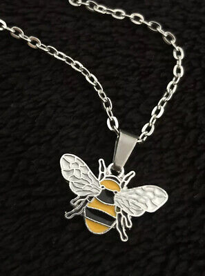 £3.95 • Buy Bee Necklace 18  Chain Wasp Honey Hive Beehive Vegan Keep Steampunk Silver Gold