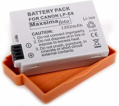 Replacement Battery LP-E8 For Canon EOS 550D 600D 650D 700D Rebel T2i T3i Kiss X • 10.69£