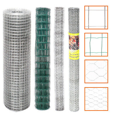 Welded Galvanised PVC Coated Fencing Chicken Wire Netting Mesh Aviary Garden New • 16.95£