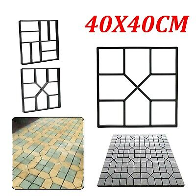 Reusable Garden Paving Pavement Mold Patio Concrete Stone Path Walk Maker Mould • 11.59£