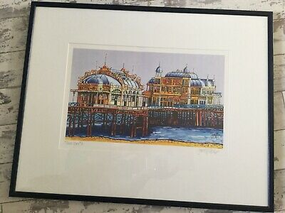 £160 • Buy Darren Wallace Print West Pier Brighton Faded Glory Framed & Signed 1999