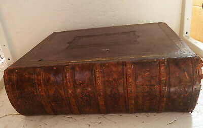 £77.99 • Buy Large Family Leather Bible Imperial Old & New Testaments John Brown C1863