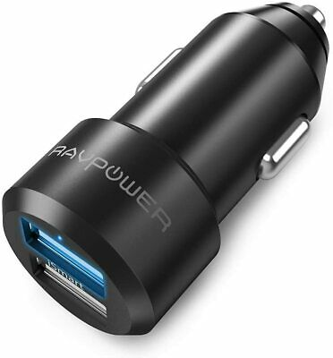AU25.80 • Buy USB Car Charger RAVPower 24W 4.8A Metal Dual Car Adapter, Compatible IPhone Xs M