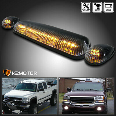 $26.96 • Buy Amber LED Cab Roof Top Lights Marker Running Lamps Clear 3Pcs Set
