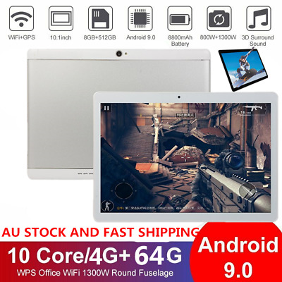 AU121.89 • Buy 10.1  WiFi 8+512GB Tablet Deca Core Android 9.0 GPS Bluetooth 4.1 Camera Phablet