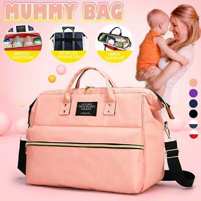 UK Multi-use Mummy Nappy Changing Shoulder Bag Baby Travel Rucksack Diaper Tote • 11.81£