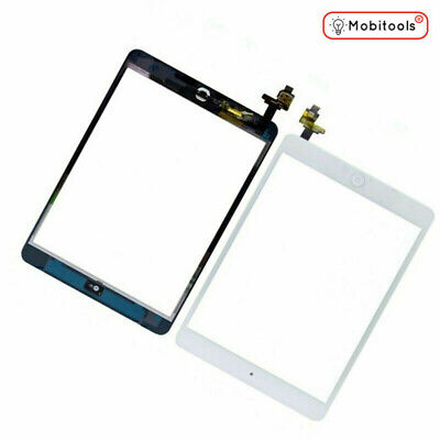 For White IPad Mini 2 Touch Glass Digitizer Screen Replacement +IC Home Button • 9.77£