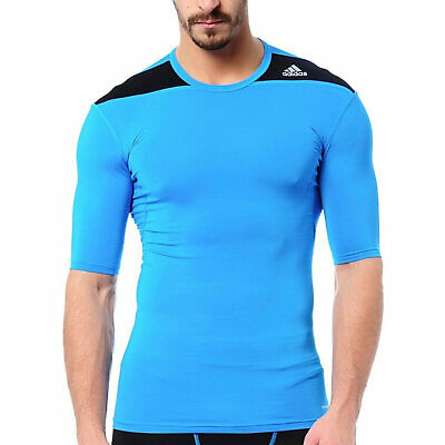 £16.99 • Buy Adidas Techfit Base Short Sleeved Compression Base Layer Blue XS D82024